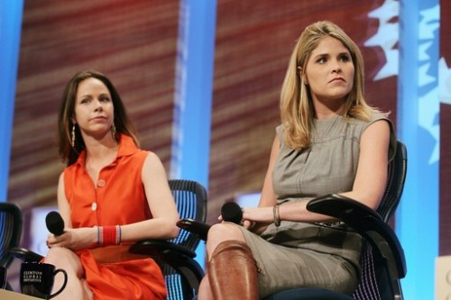 Barbara and Jenna Bush